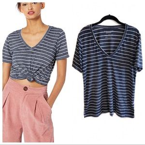 Lucky Brand striped Venice burnout tee